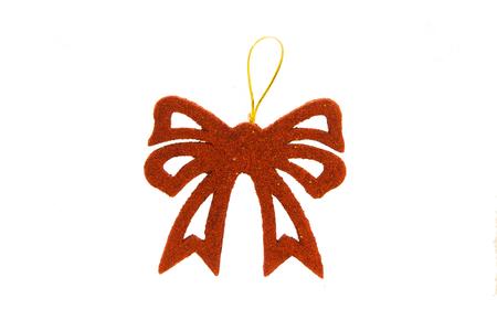 Christmas bow decoration isolated on white