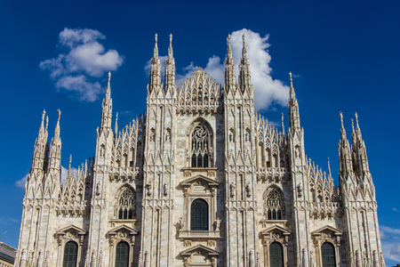 The Duomo, the main church of the city of Milan, Italy