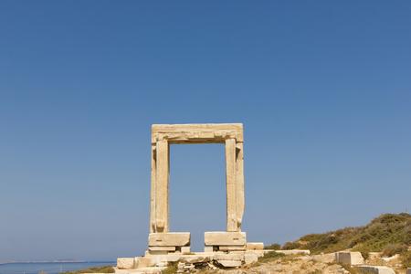 lintel: The Portara, the lintel of Lygdamis Temple of Apollo at Naxos