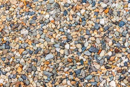 Gravel stone texture multicolored