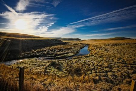 lothian: Fullarton Water,Mount Lothian, Stock Photo