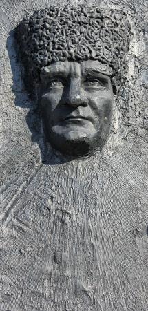 kemal: Kemal Atatürk, War Memorial, Fethiye, Turkey Editorial