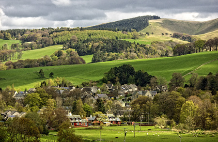uplands: Eddleston Village, Scottish Borders, Scotland