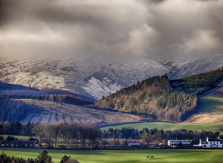 move in: Snow showers move in on the Stobo Hills, Peebles