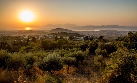 Sunset at Zia, Kos, looking towards Kalymnos, Greece
