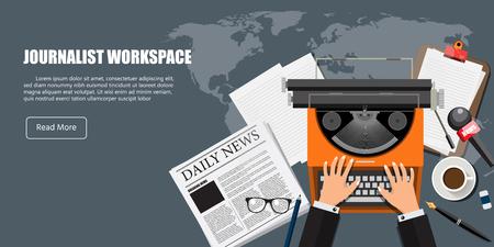 Journalist workspace.