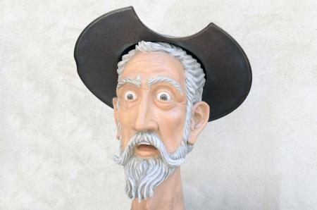 don quijote: Don Quijote figura cabeza