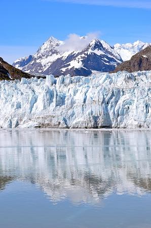 Glacier bay in a sunny day vertical