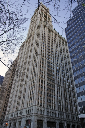Woolworth Building facade 新闻类图片