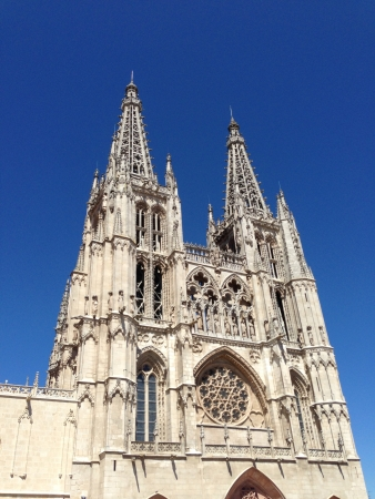 Cathedral of Burgos under a blue sky
