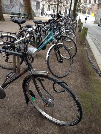 Bike parking in Brujas