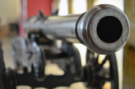 old cannon blurred background 免版税图像