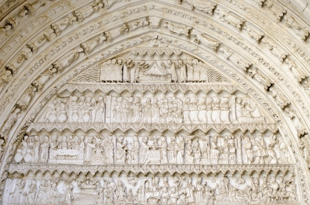 Religious stonework Cathedral of Toledo 免版税图像