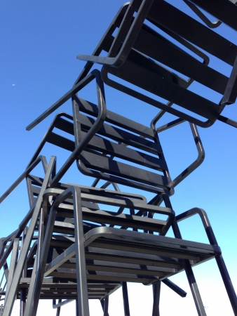Huge chairs sculpture