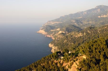 Scenic cliff in Majorca, sunset light