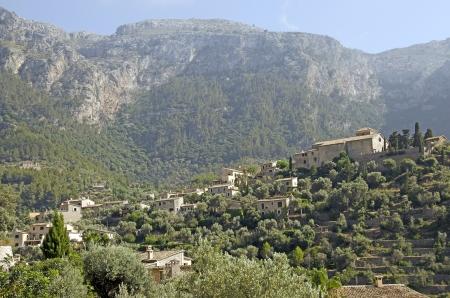 Mediterranean mountain village, sunset light