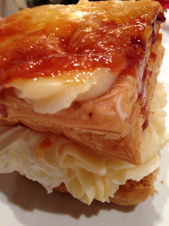 Piece of puff pastry tart