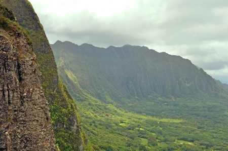 Hawaiian mountains landscape