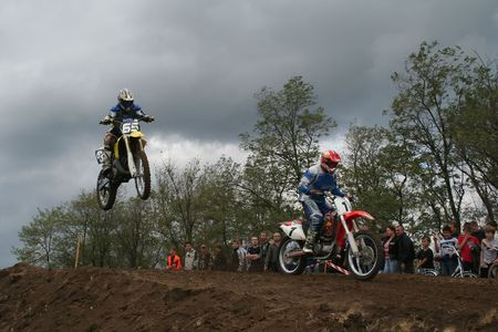 Mariupol, Ukraine - September, 2007 - Motocross Championship contestants