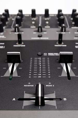 Sound and voice controlling equipment for professional disc jockey Stock Photo - 7657562