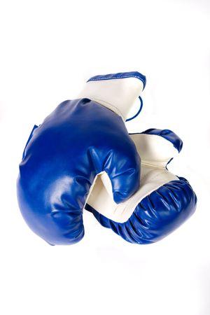 Combative sports equipment on white background photo