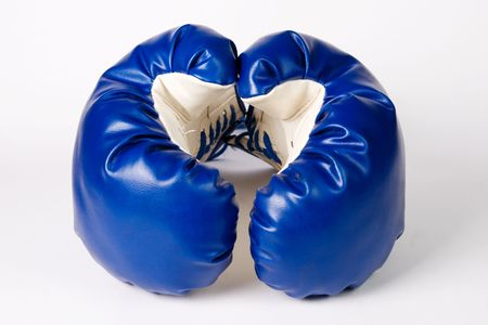 combative: Combative sports equipment on white background