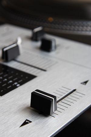 crossfader: Top class equipment of a hip-hop scratch dj