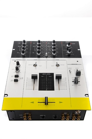 crossfader: Professional audio mixing controller for DJ Stock Photo