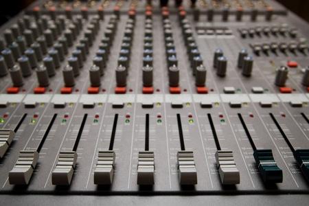 Close shot of professional audio recording equipment for multiple purposes photo