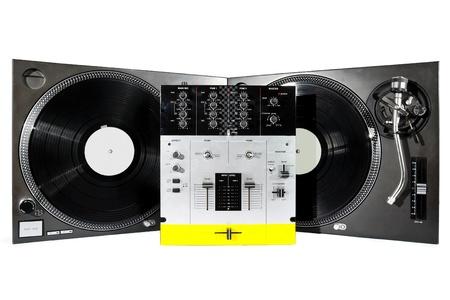 Audio-Geräte nützlich für erstklassige Hip-hop DJ shot on white background Standard-Bild - 8890294