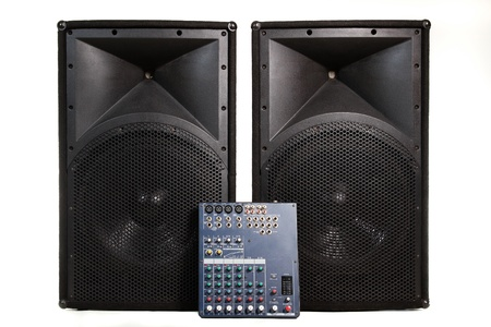 live performance: Isolated professional audio stage equipment suitable for live performance or club usage