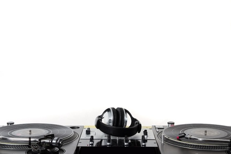 turntable: Professional audio mixing equipment waiting for a DJ
