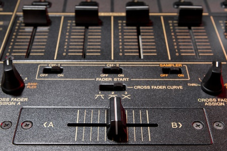crossfader: Top class audio equipment for a disc jockey