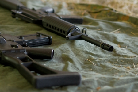 Automatic guns and ammunition for military use - M16 & G36G608 photo