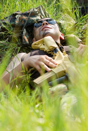 Everybody needs to take some rest when the battle is over Stock Photo - 15380212
