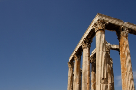 olympian: The Temple of Olympian Zeus, also known as the Olympieion or Columns of the Olympian Zeus