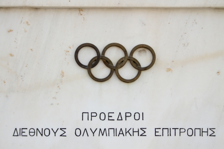hosted: The Panathenaic Stadium or Panathinaiko also known as the Kallimarmaro, meaning the  beautifully marbled  , is an athletic stadium in Athens that hosted the first modern Olympic Games in 1896  Reconstructed from the remains of an ancient Greek stadium, th