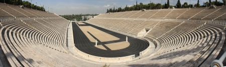 The Panathenaic Stadium or Panathinaiko also known as the Kallimarmaro, meaning the  beautifully marbled  , is an athletic stadium in Athens that hosted the first modern Olympic Games in 1896  Reconstructed from the remains of an ancient Greek stadium, th