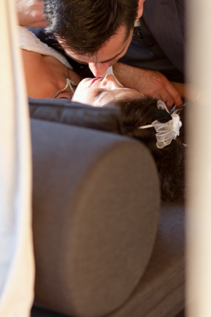The sweetest wedding kiss ever photo