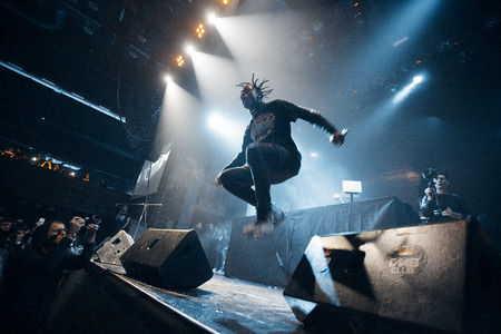 scott: Travis Scott performing at Glavclub in Moscow on 6th of December 2014 Editorial