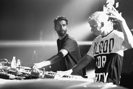dubstep: Yellow Claw band performing live at Space Moscow nightclub in Moscow, Russia on 8 February 2015