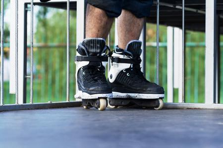 blader: Roller wearing aggressive inline Stock Photo