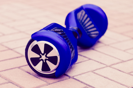 hover: Modern transportation technology - electric mini or scooter hover board. Stock Photo