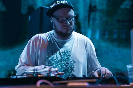 MOSCOW - 21 MAY, 2016 : DMC World DJ event at Yotaspace nightclub. Headliner was the 2002 World Champion DJ Kentaro from Japan
