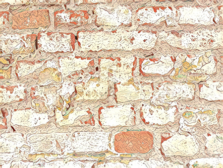 Creative brick wall background pattern.Unique brickwork texture for custom poster design
