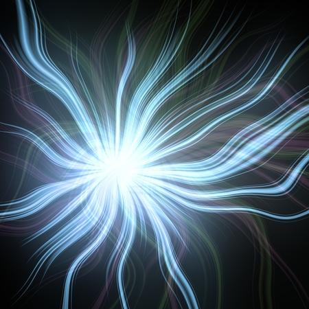 bewitch: Plasmatic power ball background illustration Stock Photo