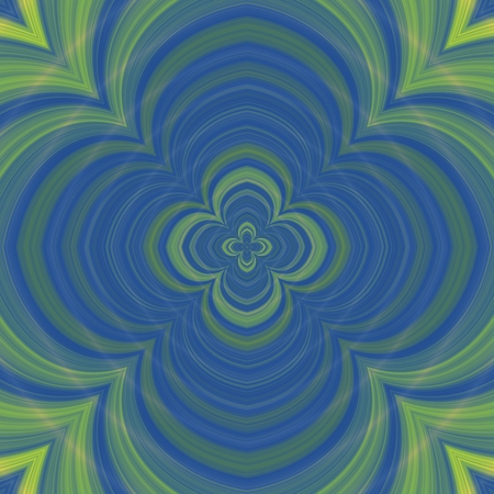generate: Psychadelic radial abstract illustration background Stock Photo