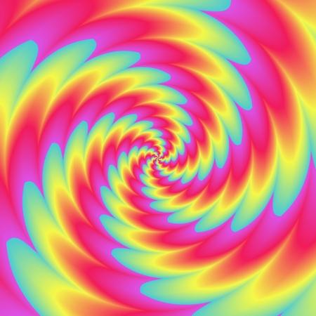 Psychadelic radial abstract illustration background Stock Photo