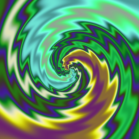 Psychadelic radial abstract illustration background Stock Photo