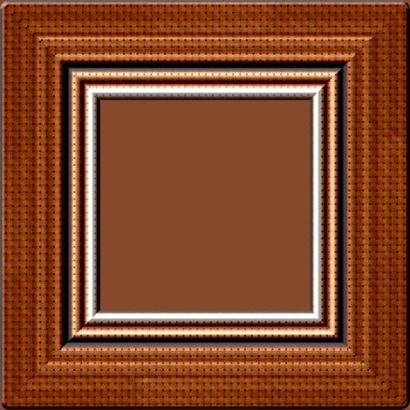 wood frame: Old dark wood frame generated texture